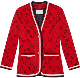 Gucci GG jersey jacket with Web