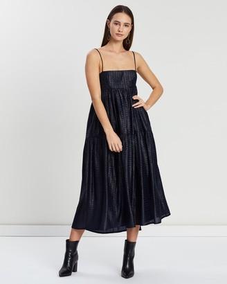 Asilio Metallic Check Dress