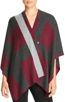 Magaschoni Blocked Cashmere Poncho