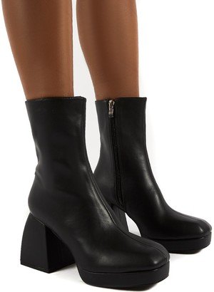 Public Desire Uk Imagine Chunky Heel Ankle Boots