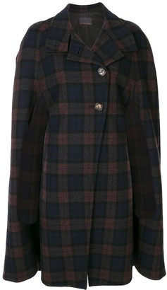 Ginger & Smart Transient plaid cape