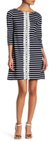Sandra Darren Striped Knit Dress (Petite)