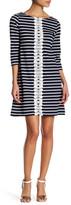 Sandra Darren Striped Knit Dress (Petite)