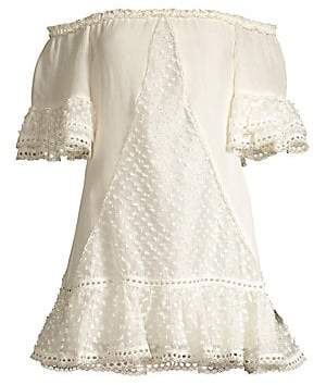 Alexis Women's Norrina Off-The-Shoulder Lace Eyelet Shift Dress