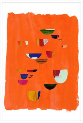 Jonathan Bass Studio Painted Shards Ii, Decorative Framed Hand Embellished Canvas