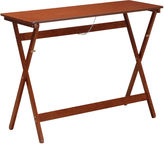 Linon Walnut Folding Buffet Tray Table