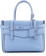 Reed Krakoff Boxer Pebbled Leather Tote Bag, Blue