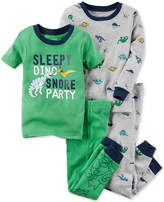 Carter's 4-Pc. Sleepy Dino Cotton Pajama Set, Baby Boys
