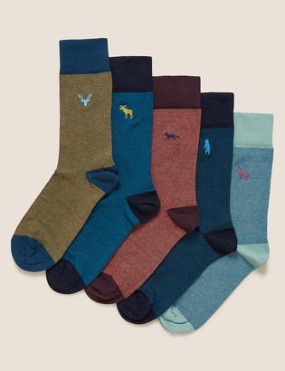 Marks and Spencer 5 Pack Cool & Fresh Animal Socks