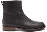 Belstaff Attwell Pebbled-leather Ankle Boots