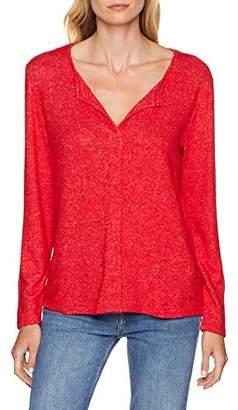 Tom Tailor Women's Langarm Shirt Mit V-auschhnitt T,X-Large
