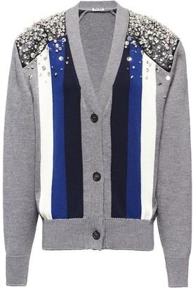 Miu Miu Button-Front Knitted Cardigan