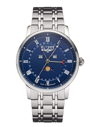 Elysee Unisex Adult Analogue Quartz Watch with Stainless Steel Strap 77019