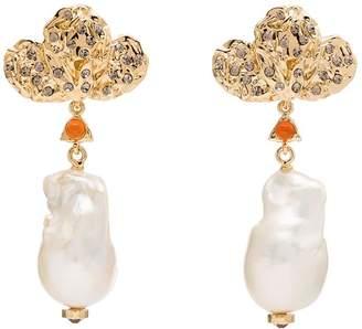 Chloé Gold-Plated Pearl Drop Earrings