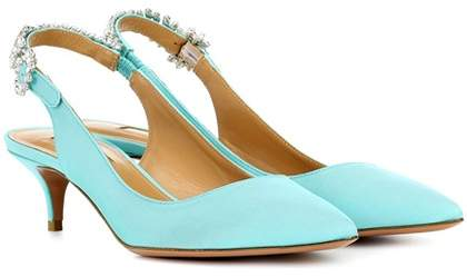 Aquazzura Portrait of lady 45 slingback pumps