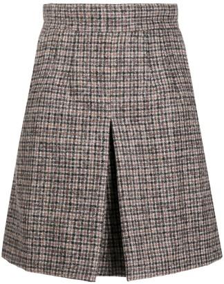Dolce & Gabbana check pattern A-line skirt