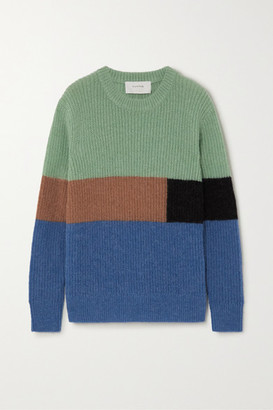 MUNTHE Emil Color-block Knitted Sweater - Blue