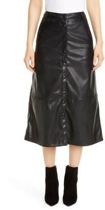 Seventy Faux Leather Skirt