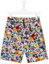 Kenzo badges print shorts