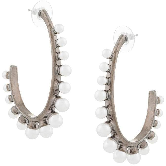 Oscar de la Renta pearl hoop earrings