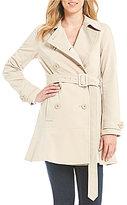 Kate Spade Double Breasted Peplum Hem Rain Trench Coat