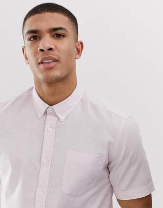 French Connection short sleeve linen shirt-Pink
