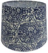 Tropical 10-Inch Hardback Drum Lamp Shade in Blue