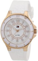 Tommy Hilfiger Carley Women's Quartz Watch with White Dial Analogue Display and White Rubber Strap 1781275