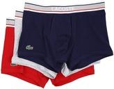 Lacoste Colours Grey Waistband 3-Pack Trunk Men's Underwear