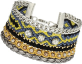Topshop Multi row fabric bracelet