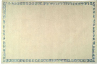 One Kings Lane Kasler Hand-Knotted Rug - Cream/Blue - 4'x6'