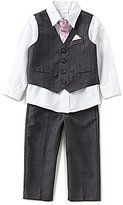 Starting Out Baby Boys 3-24 Months Long-Sleeve Shirt, Plaid Vest, Plaid Pants, & Tie Set