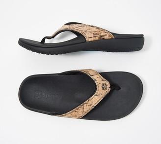 Spenco Orthotic Thong Sandals - Yumi Cork