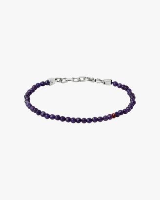 Title Of Work Unisex Ruby Sapphire Beaded Bracelet