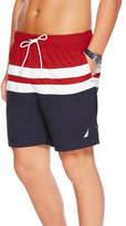 Nautica 18' Full Elastic Stripe Colourblock Swim Short