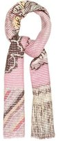 Etro Floral Knit Scarf