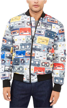 Love Moschino Men Cassette Print Bomber Jacket