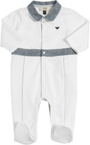 Armani Junior Cotton Jersey Romper