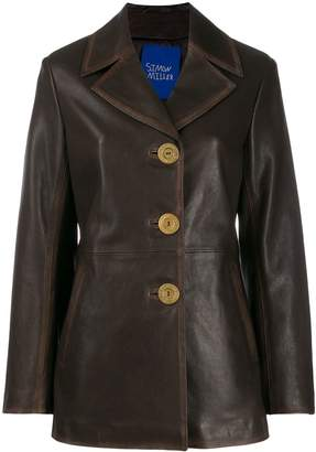 Simon Miller single-breasted leather coat