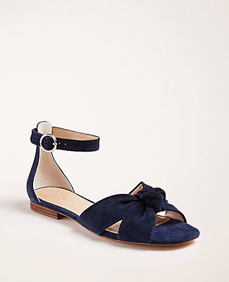 Ann Taylor Juno Suede Knot Sandals
