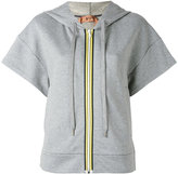 No.21 short sleeve zipped hoodie