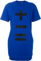 Love Moschino embellished sweatshirt dress - women - Cotton/Polyester - 40