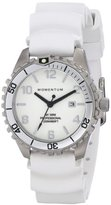 Momentum Women's 1M-DV07WS1W M1 Stainless Steel Watch with White Rubber Band