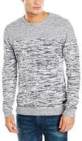Wrangler Men's Twisted Crew Knit Navy Jumper