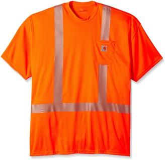 Carhartt Men's Big-Tall Force High Visibility Short Sleeve Class 2 T-Shirt