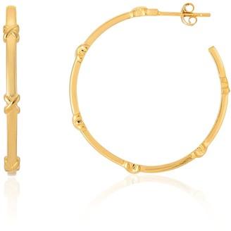 Auree Jewellery Deia Large Yellow Gold Vermeil Kiss Hoop Earrings