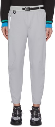 Particle Fever Water resistant buckle belt cuff zip pants