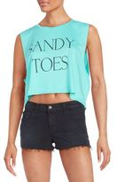 Wildfox Couture Sandy Toes Graphic Tank Top