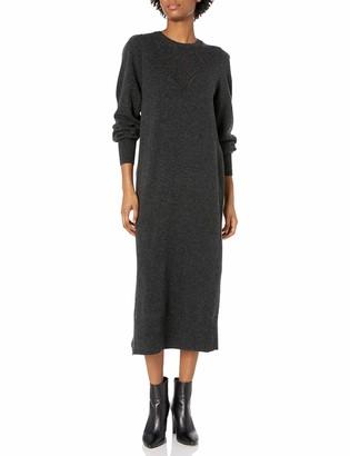 Lucky Brand Women's Long Sleeve Pointelle Knit Sweater Dress