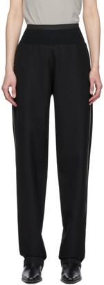 Haider Ackermann Black Elastic Waist Trousers